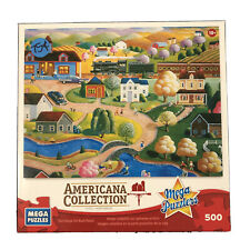 "Mega Puzzlers Americana Collection Country Station Used 500 Pcs (13""x19"")"