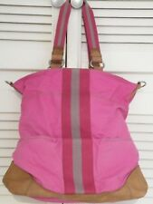 "Large Pink Canvas Shopper by ""FOSSIL"" Key-Per Range"
