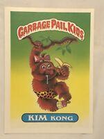 1986 GARBAGE PAIL KIDS 1st SERIES GIANT CARD #34 KIM KONG VINTAGE USA GPK RARE