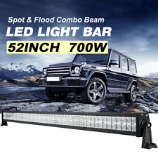 52inch 700W PHILIPS LED Work Light Bar Flood Spot Combo Offroad Truck 4WD 50/54""
