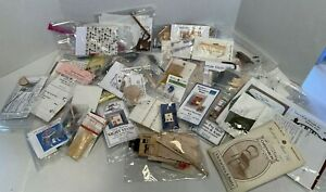 Vintage Lot Dollhouse Miniature Crafting Kits (32) Furniture Wicker & More