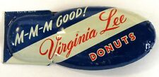 old giant VIRGINIA LEE DONUTS advertising premium tin clicker cricket MADE USA a