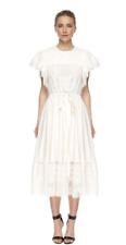 BNWT LOVER THE LABEL GARLAND DRESS WHITE size: 8 RRP: $650