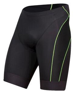 Pearl Izumi Black With Green Stripe Elite Tri Shorts WOMENS SIZE SMALL ZP-7948