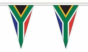 SOUTH AFRICA FLAG BUNTING TRIANGULAR 20 metres 54 flags AFRICAN