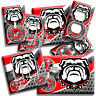 GEORGIA UNIVERSITY BULLDOGS FOOTBALL TEAM GO DAWGS LIGHTSWITCH OUTLET WALL DECOR