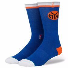 Stance NBA  New York Knicks Socks Orange/Blue Men's Size Large (9-12)