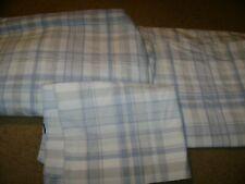 Twin Size Sheet Set...Tommy Hilfiger...Blue/White/Gray Plaid