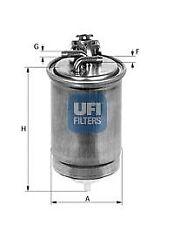 Filtro carburante UFI 24.391.00 AUDI FIAT SEAT SKODA VW