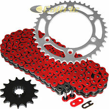 Red O-Ring Drive Chain & Sprockets Kit Fits SUZUKI DR350SE / DR-Z400SM