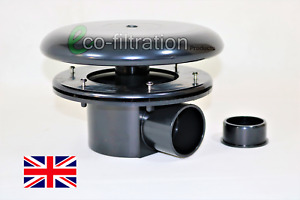 """2"""" RETRO FIT BOTTOM DRAIN AND DOME KOI FISH POND PUMP FILTER TANK PIPE FITTING"""