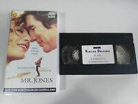 Mr Jones Richard Gere Lena Olin - VHS V.O.English Sottotitoli Castellano