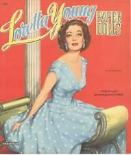 Vintage Uncut Loretta Young Paper Dolls Org Sz Hd~Laser Reproduction~Lo Pri~H