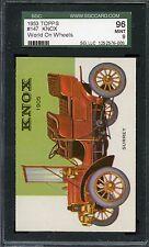 1953 Topps World On Wheels #147 Knox SGC 96
