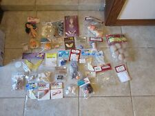 LARGE MIXED LOT: FIBRE CRAFT/DARICE DOLLS, DOLL PARTS, MINIATURES, WINGS, BOOKS