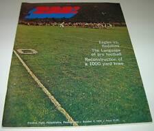1970 PHILADELPHIA EAGLES vs WASHINGTON REDSKINS NFL PROGRAM Gale Sayers VG cond