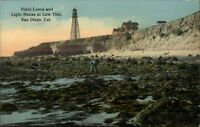 San Diego CA Point Loma Lighthouse c1910 Postcard