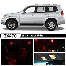 19x Red Interior + License Plate LED Light Package Kit Fit 2004-2009 Lexus GX470