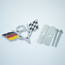 V8 Germany DE Flag Chrome Metal Front Grille Grill Emblem Badge For BMW Mini