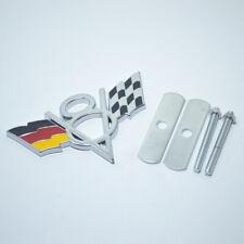 V8 Germany DE Flag Chrome Metal Front Grille Grill Emblem Badge For BMW Mini