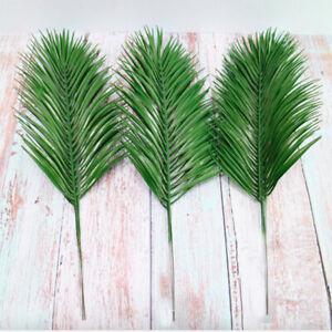 3pcs Artificial Palm Leaves 52cm Plastic Faux Fern Green Cycas Home Garden Decor