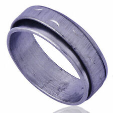 Wedding Mens White Silver Plated Love Stainless Steel Band Ring Size 10