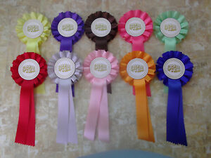 10 SPECIAL rosettes, choose your colour. DOG HORSE FREE POSTAGE