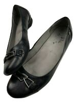 Life Stride Womens Velocity Memory Foam Black Slip On Flex Small Wedge Size 10