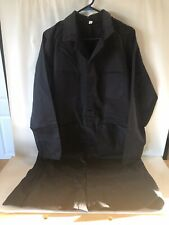 Auto Shop Welding Grilling Work Trench Long Jacket Snap Size 42 Blue w/ Pockets