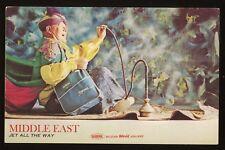 1960s Original Vintage SABENA BELGIAN WORLD AIRLINES Postcard Middle East