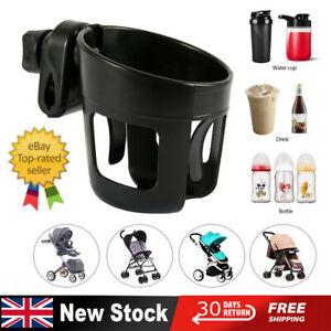 UK Universal Baby Stroller Cup Holder Pram Bottle Drink Water Coffee Bike Bag