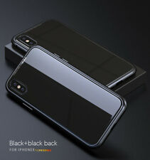 Magnetic Adsorption Metal Case Luxury Tempered Glass Cover For iPhone X 7 8 Plus