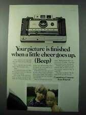 1970 Polaroid Model 350 Camera Ad - Little Cheer Beep