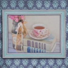 Wall Painting Picture Canvas Wooden Frame Wall Art Modern Design -Tea