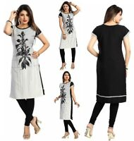 UK STOCK - WOMEN FASHION INDIAN SHORT KURTA KURTI TUNIC TOP SHIRT SC2417
