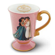 DISNEY DESIGNER FAIRYTALE COUPLE JASMINE & ALADDIN Coffee Mug New PRINCESS