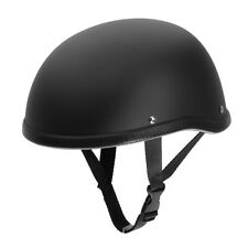 Matte Black Low Profile Motorcycle Half Helmet Skull Cap For Harley Chopper