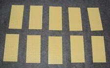 LEGO x 10 Tan Plate 8 x 16 NEW 92438 desert sand roof floor