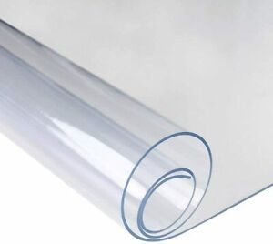 1.6mm Clear Tablecloth Wipe Transparent Table Protector PVC Waterproof Cover