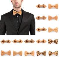 Cork Wooden Bow Tie Men Novelty Handmade Fashion Bowtie Wedding Party Neckwear