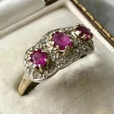 Vintage 18 Carat Gold Ruby and Diamond Ring