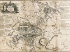 """Guía De Mapa Antiguo extraños Edimburgo Leith 12x16 """"impresión de arte cartel HP3586"""