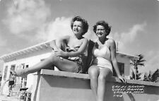 Gaylord Michigan~Gay El Rancho Guest House~Close Up Bathing Beauties~1940s RPPC