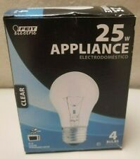 4-PACK Feit Electric BP25A15/CL 25 Watt Clear Type A15 Appliance Light Bulbs