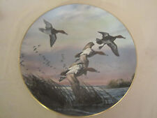 CANVASBACK DUCK collector plate DAVID MAASS Canvasbacks RARE Brown & Bigelow