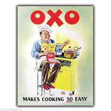 Metal Sign Wall Plaque OXO rend la cuisson si facile Rétro Vintage Poster Photo