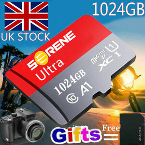 Micro SD Memory Card 256GB 512GB 1TB Fast Speed 325MB/s 4K Class 10 with Adapter