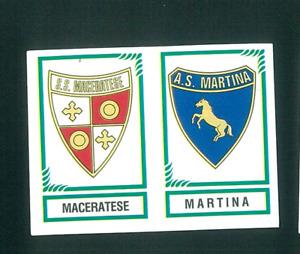 Fig. Calciatori Panini 1982-83 N.588 Scudetti Maceratese/Martina Nuova!!