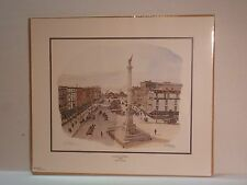 """""""Commercial Place 1909"""" By Casey Holtzinger Signed Print"""