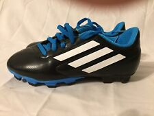 Boys Size 3 Adidas Black and Blue Cleats Soccer Shoes